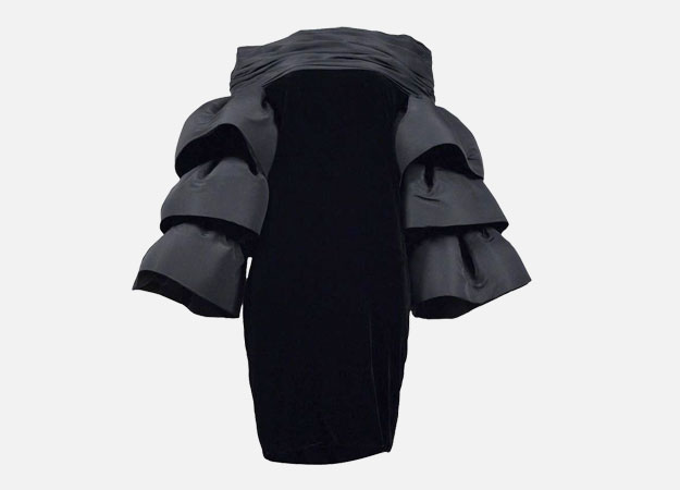 "Платье, Pierre Cardin Couture<p><a style="""" target=""_blank"" href=""https://www.1stdibs.com/fashion/clothing/evening-dresses/pierre-cardin-couture-ruffle-sleeve-dress/id-v_2761403/?utm_content=control"">1stdibs.com</a></p>"