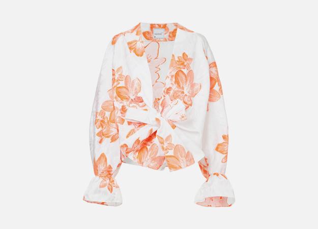 "Блуза Bambah<p><a style="""" target=""_blank"" href=""https://www.farfetch.com/ru/shopping/women/bambah---item-12537166.aspx?storeid=10735&from=listing"">Farfetch</a></p>"