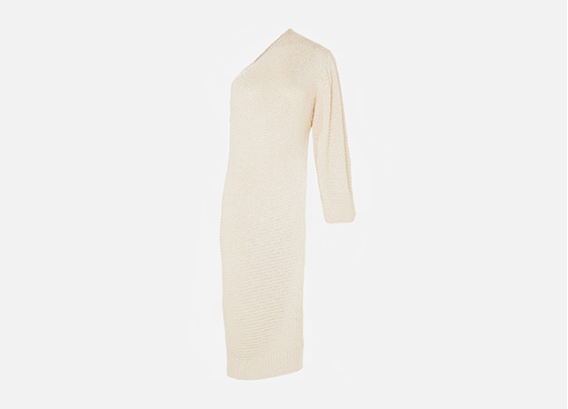 "Stella McCartney<p><a style="""" target=""_blank"" href=""https://www.net-a-porter.com/ru/en/product/1045442/Stella_McCartney/one-shoulder-crochet-knit-tunic"">Net-a-porter</a></p>"