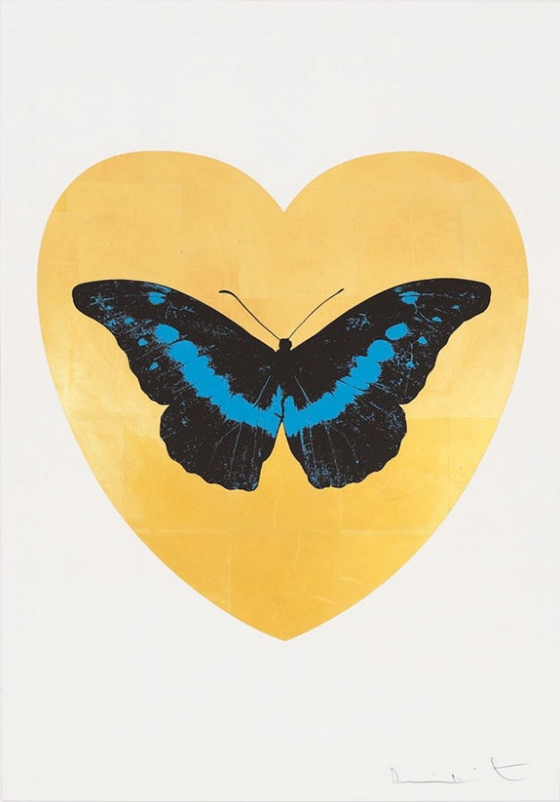 I Love You - Gold Leaf/Black/Turquoise