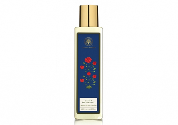 Moisture Replenishing Bath & Shower Oil Indian Rose Absolute Forest Essentials Forest Essentials