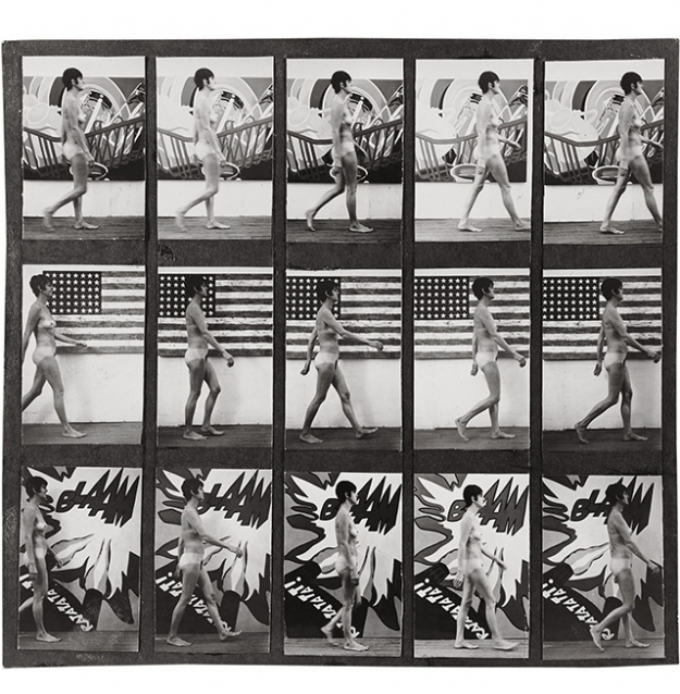 Стертевант. Study for Muybridge Plate #97: Woman Walking, 1966