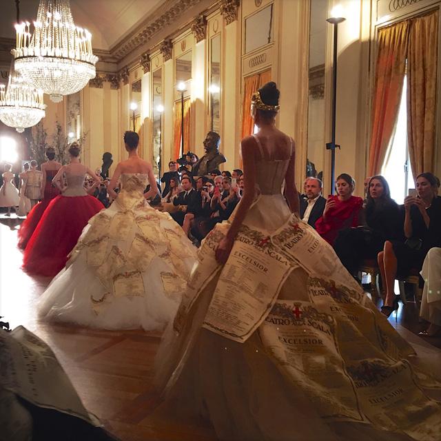 показ коллекции в La Scala