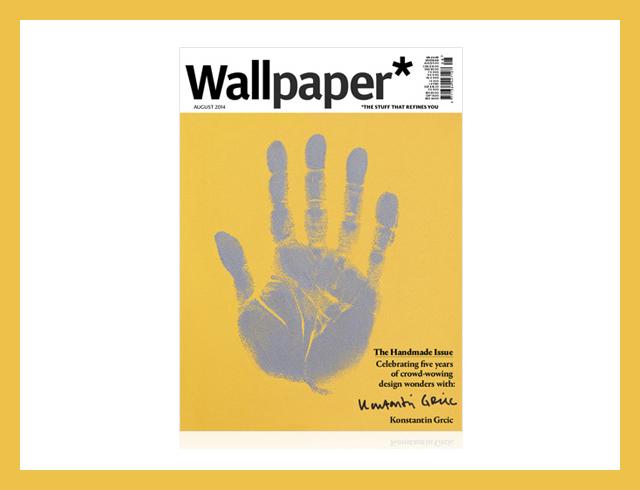 Журнал Wallpaper* поместил на обложки отпечатки ладоней известных дизайнеров