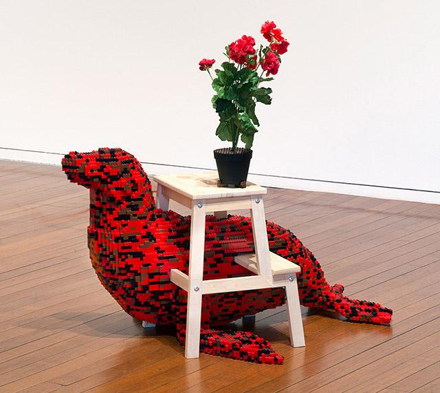 Скульптуры из LEGO и мебели IKEA в серии работ Habitat