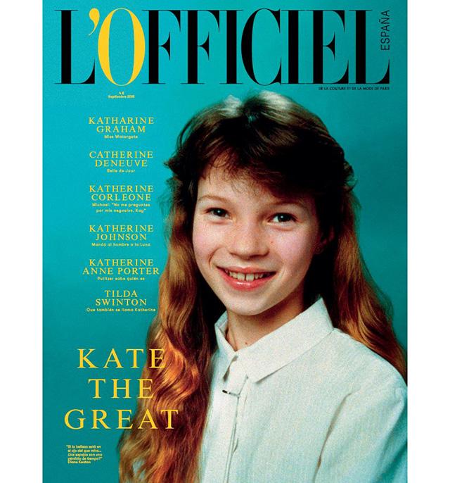 10-летняя Кейт Мосс украсила обложку первого испанского L'Officiel