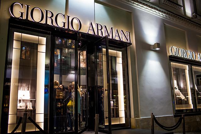 Открытие нового бутика Giorgio Armani в Третьяковском проезде