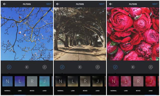 В Instagram появились три новых фильтра