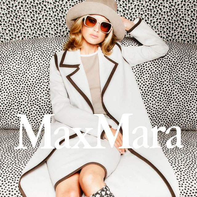 Рекламная кампания весенней коллекции MaxMara