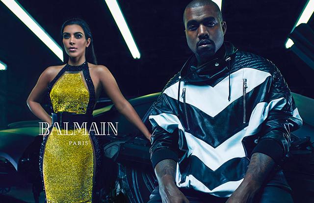 Ким иКанье украсили собой рекламу Balmain— Страстные ироскошные