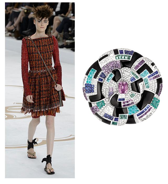 Украшения на показе Chanel Couture, осень-зима 2014