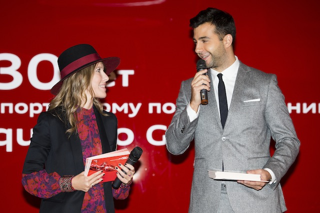 Ксения Собчак и Иван Ургант на вечере Audi