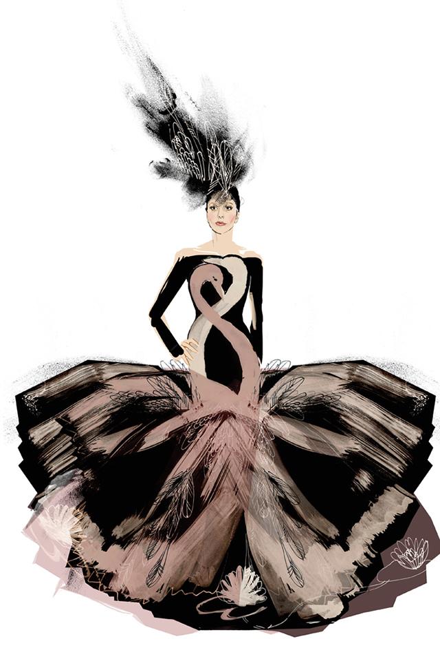 2116b4319df Дизайнеры создали эскизы свадебного платья Леди Гаги