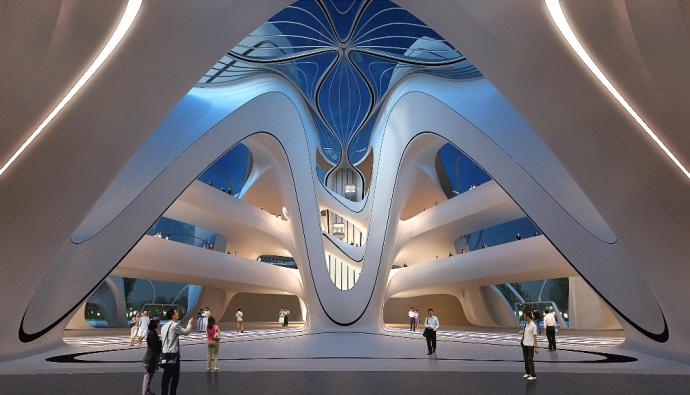 Культурный центр Захи Хадид в Китае