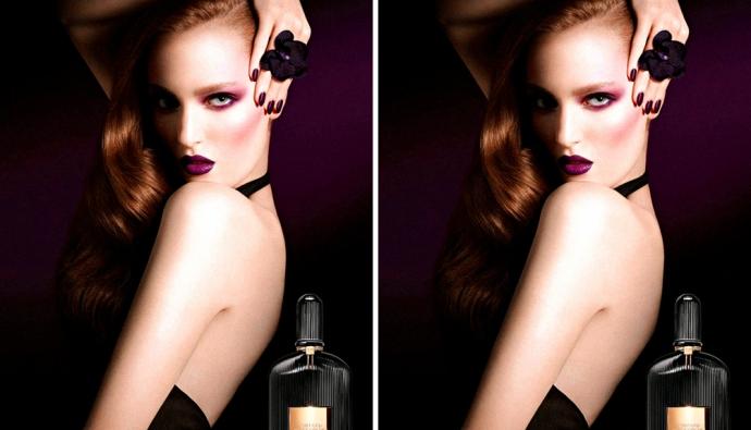 Зузана Бижох в рекламе аромата Tom Ford Black Orchid