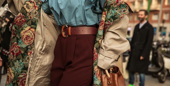 Гобелен и tie-dye: что носят на Неделе моды в Милане