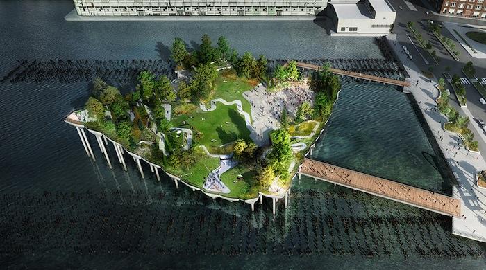 Диана фон Фюрстенберг и Барри Диллер создадут парк на реке Гудзон