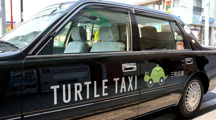 """В Японии появилось медленное такси """"Черепаха"""""""