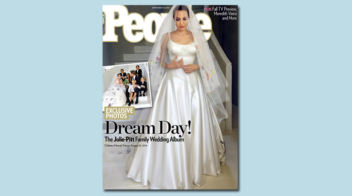 Журнал People опубликовал снимки со свадьбы Анджелины Джоли