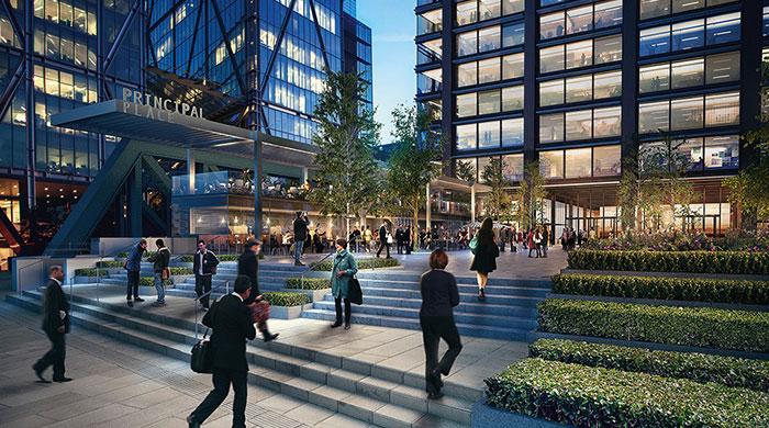 Лондонская штаб-квартира Amazon с теннисным кортом на крыше