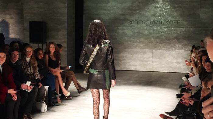 Mercedes-Benz Fashion Week. Модный показ бренда Rebecca Minkoff.