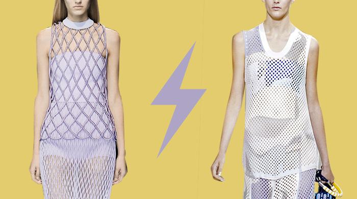 Голосование: костюм из сетки Balenciaga VS Kenzo