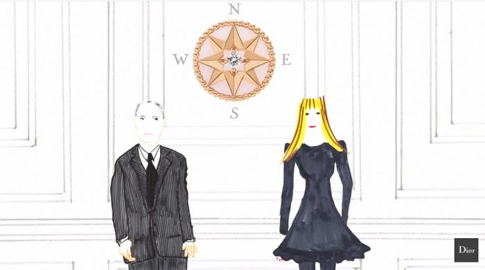 На все четыре стороны: мультфильмы Dior о коллекции Rose des Vents