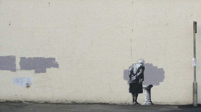Бэнкси создал новое граффити в британском Фолкстоне