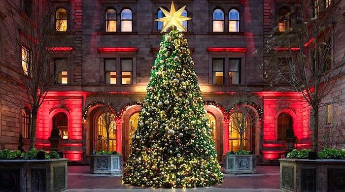 Рождественские елки в лучших отелях мира