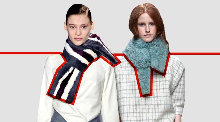 7 способов носить меховой шарф