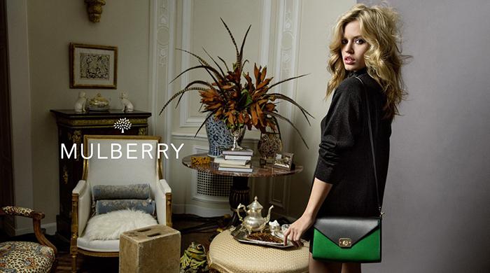 Джорджия Мэй Джаггер в рекламной кампании Mulberry