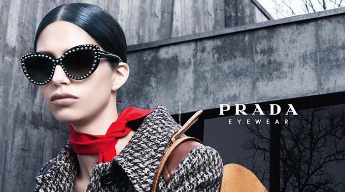 Рекламная кампания очков Prada