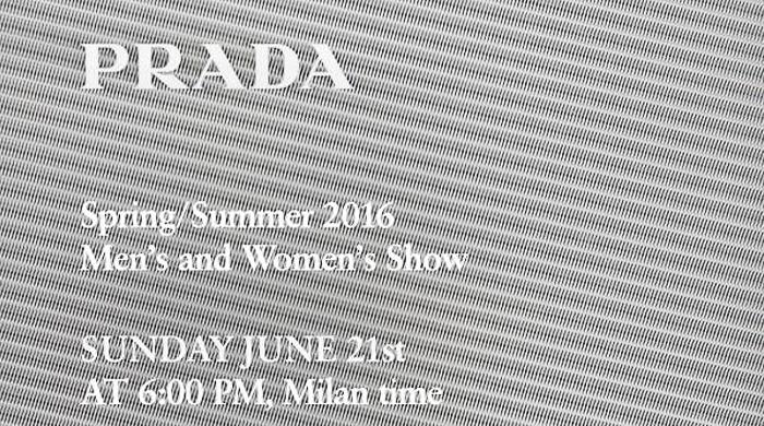 Прямая трансляция мужского показа Prada, весна-лето 2016