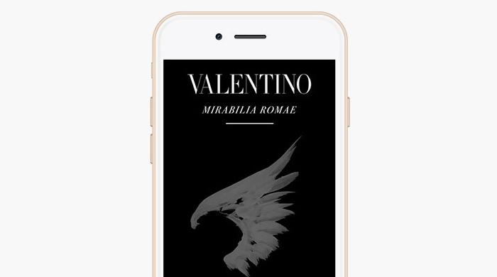 В честь показа кутюрной коллекции Valentino запустил приложение