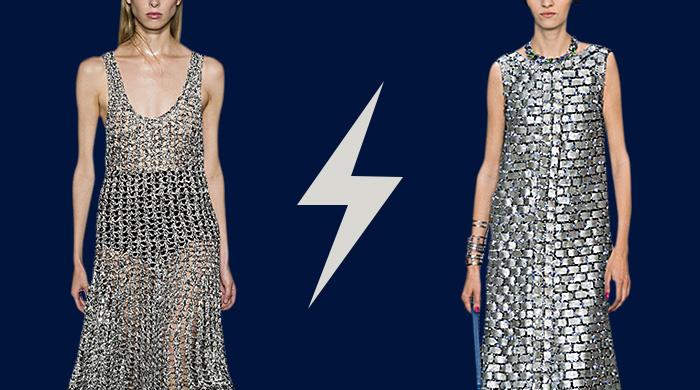 Голосование: платье-кольчуга Chanel VS Proenza Schouler