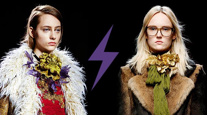 Голосование: цветок Dries van Noten VS Gucci