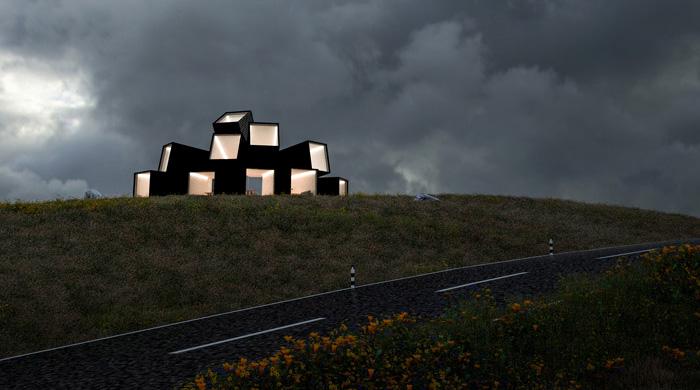 Kонцепт здания из контейнеров от Джеймса Уитейкера
