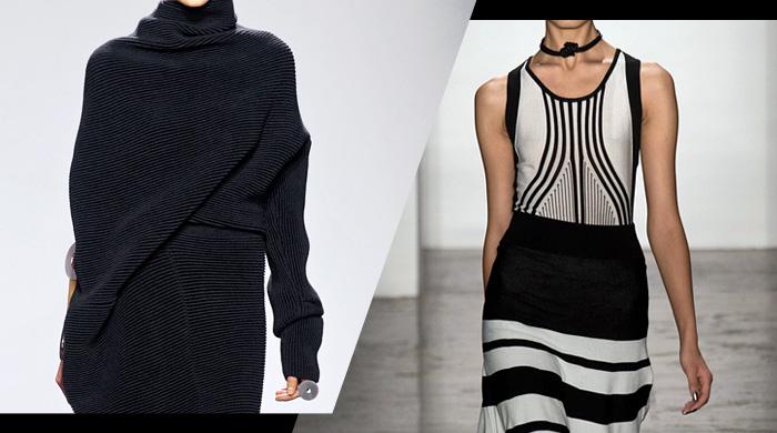 In/Out: платья коконы vs бандажные платья