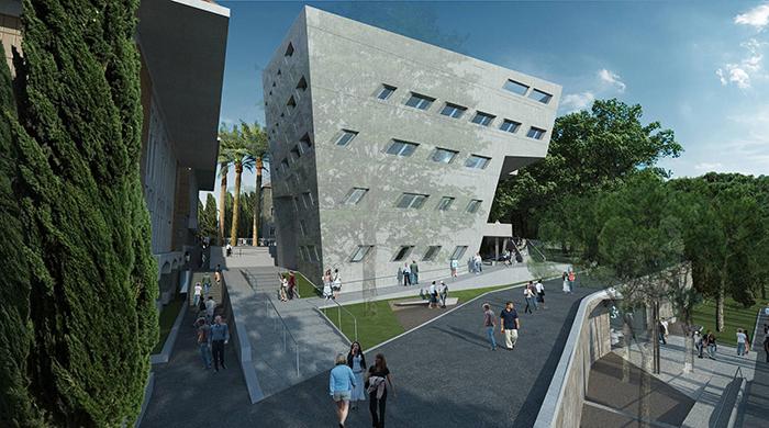 Здание Института Иссама Фареса в Бейруте от Захи Хадид