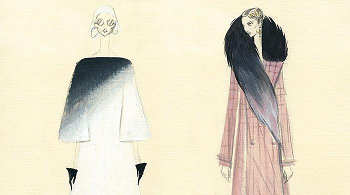 Эскизы коллаборации Ulyana Sergeenko и Saga Furs