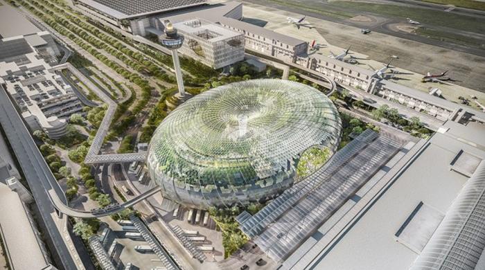 """В новом терминале сингапурского аэропорта """"Чанги"""" появится водопад"""