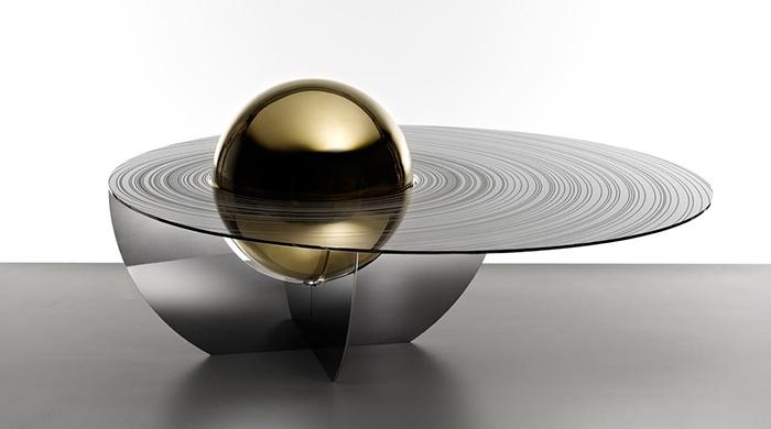 Кольца Сатурна: футуристический стол от Brooksbank & Collins