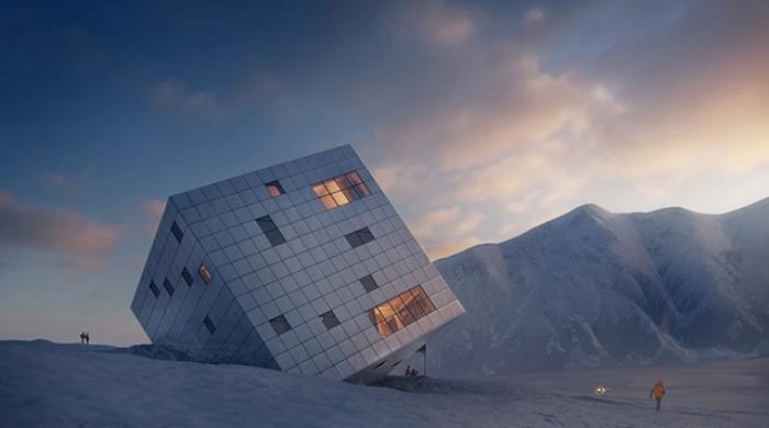 Кубический дом в словацких Карпатах от Atelier 8000