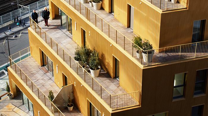 В Париже построили спиральные жилые дома