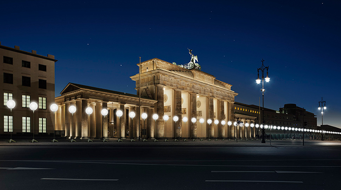 На месте Берлинской стены появятся 8000 фонарей