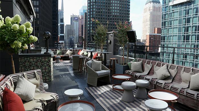 PHD Terrace: частные вечеринки с видом на ночной Нью-Йорк