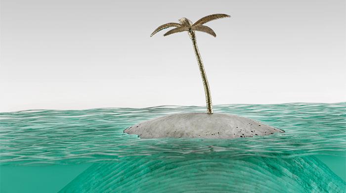 Стеклянное море: новая серия скульптур Бена Янга