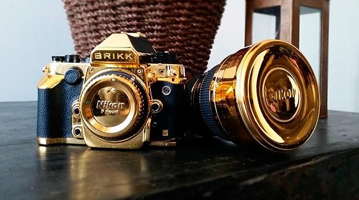 Золотой фотокомплект Brikk с 24-каратным покрытием