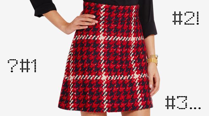 Одна вещь — три образа: клетчатая юбка Miu Miu