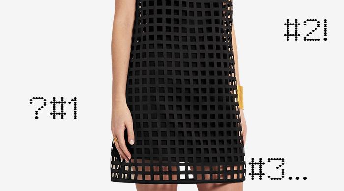 Одна вещь — три образа: платье-сетка Versace